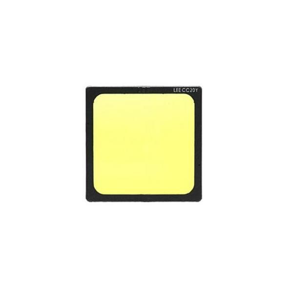 Lee 100X100mm角 ポリエステルフィルター 色補正 イエロー Y CC20100×100角プラスチックマウント付