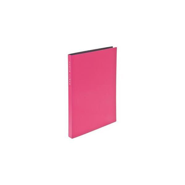 ナカバヤシ CTPKG-80-PK 超透明ポケットアルバム KG判(はがき) 88枚 ピンクの画像