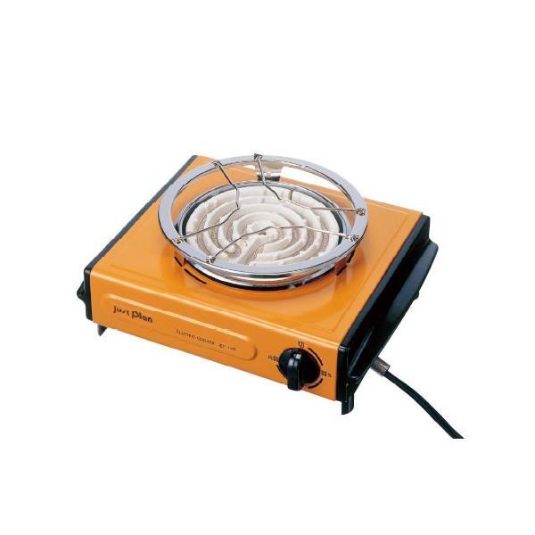 イズミ IEC105-D 電気コンロ オレンジ