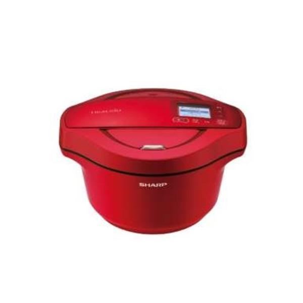 シャープ KN-HW24E-R 水なし自動調理鍋 「ヘルシオ ホットクック」(2.4L) レッド系