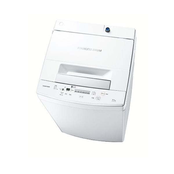 東芝 AW-45M7-W 全自動洗濯機 (洗濯4.5kg) ピュアホワイト|yamada-denki