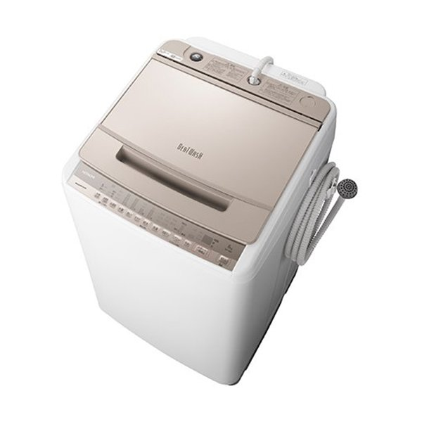 長期保証 洗濯機日立8KGBW-V80FN全自動洗濯機ビートウォッシュ(洗濯・8kg)シャンパン