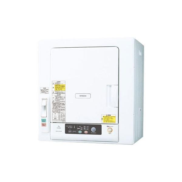 日立 DE-N60WV-W 衣類乾燥機 (乾燥6.0kg) ピュアホワイト yamada-denki