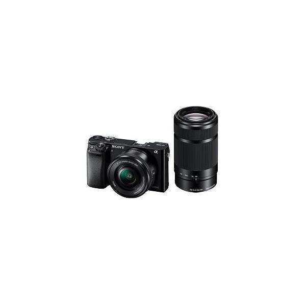 ソニー ILCE-6000Y-B デジタル一眼カメラ α6000 ダブルズームレンズキット (ブラック)