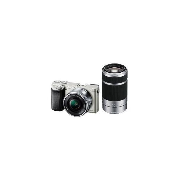 ソニー ILCE-6000Y-S デジタル一眼カメラ α6000 ダブルズームレンズキット (シルバー)