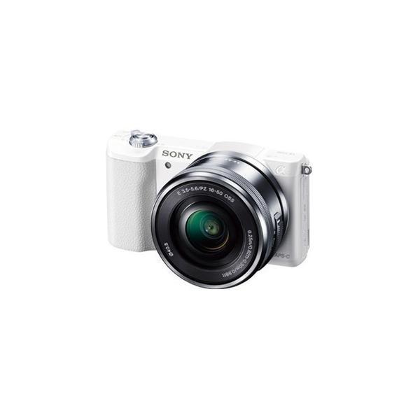 ソニー ILCE-5100L-W デジタル一眼カメラ α5100 パワーズームレンズキット (ホワイト)