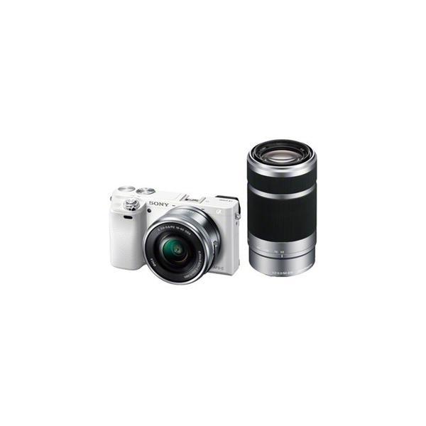 ソニー ILCE-6000Y-W デジタル一眼カメラ α6000 ダブルズームレンズキット (ホワイト)