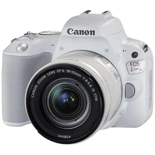 キヤノン EOSKISSX9-L1855KWH デジタル一眼カメラ EOS Kiss X9 EF-S18-55 F4 STM レンズキット ホワイト