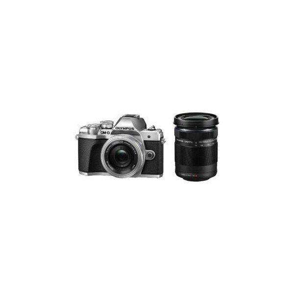 オリンパス OM-D-EM10MK3WK-BK デジタル一眼カメラ 「OM-D E-M10 MarkIII」 ダブルズームキット シルバー