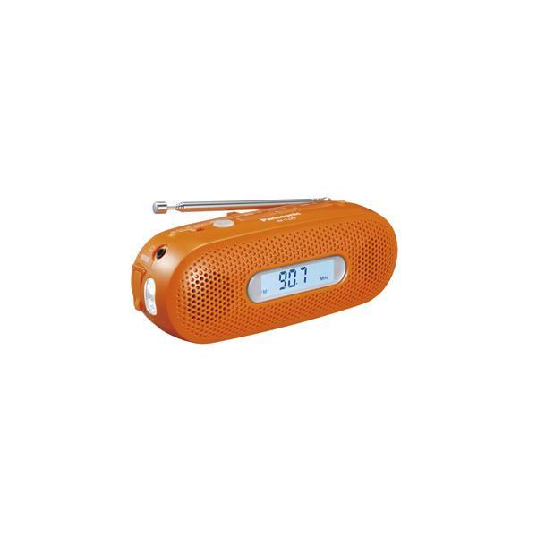 パナソニック RF-TJ20-D AM/FMワイド手回し充電ラジオ オレンジ|yamada-denki