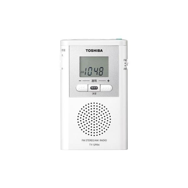 東芝TY-SPR4-WデジタルチューナーAM/FMラジオホワイト