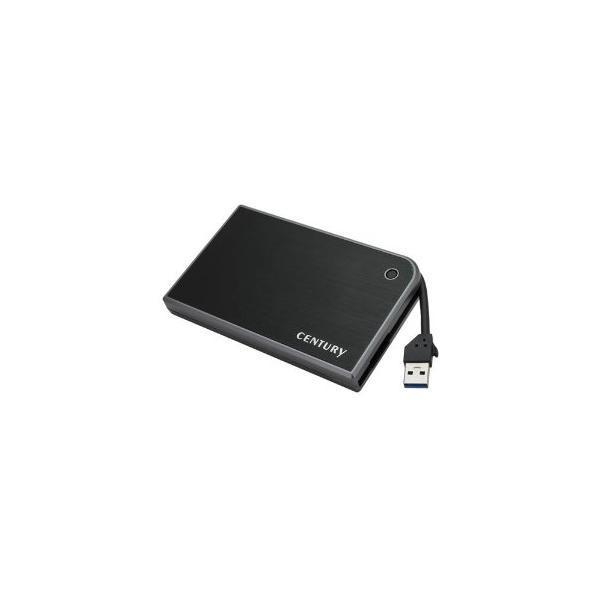 センチュリー CMB25U3BK6G MOBILE BOX USB3.0接続 SATA6G 2.5 HDD/SSDケース ブラック&グレー