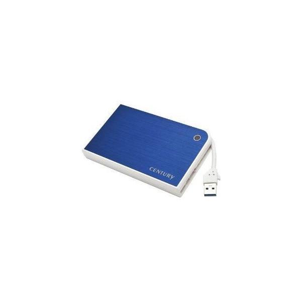 センチュリー CMB25U3BL6G MOBILE BOX USB3.0接続 SATA6G 2.5 HDD/SSDケース ブルー&ホワイト