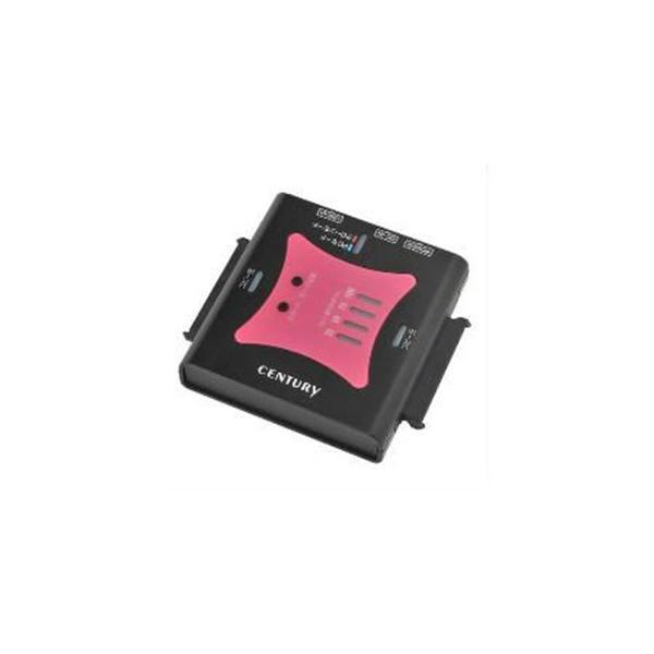 センチュリー CRAS2U3CP6G 裸族の頭 USB3.0 クローンプラス SATA6G クローン機能搭載USB3.0 SATA6G×2 HDD/SSDアダプター