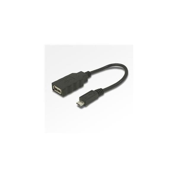 ミヨシ USB-H015BK USBホストケーブル Aメス-microBオス 0.16m|yamada-denki