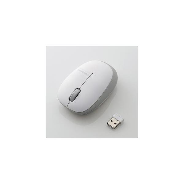 エレコム BlueLEDマウス/無線/3ボタン/軽量 M-BL20DBSV シルバーの画像