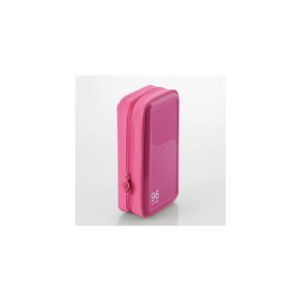 エレコム CCD-H96PN CD/DVDファスナーケース(96枚収納) ピンク