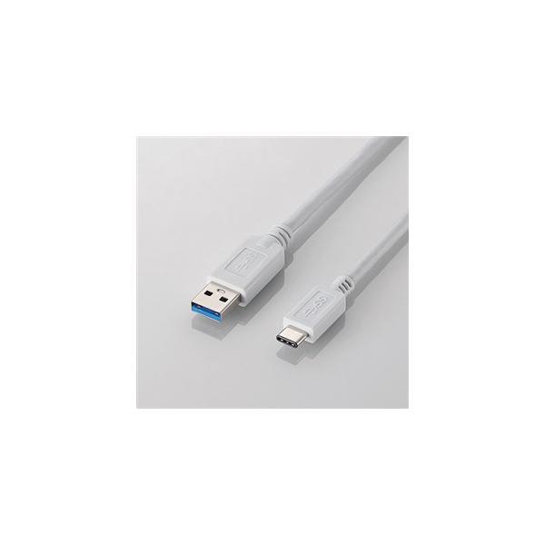 エレコム USB3.1ケーブル/for Apple/A-Cタイプ USB3-APAC10WH ホワイトの画像