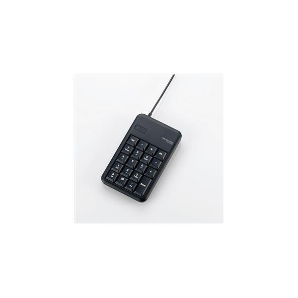 エレコム 有線テンキーボード/Sサイズ/USBハブ付TK-TCM014BK ブラック高耐久性キーを採用したテンキーパッドの画像