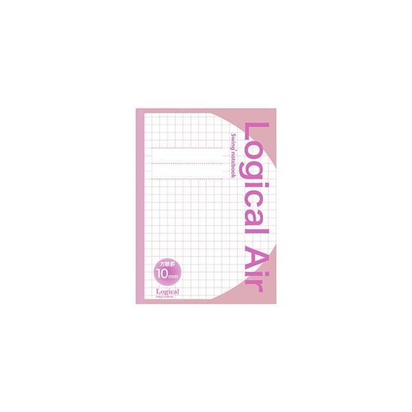 ナカバヤシ HB5-H101-P ロジカルエアー(軽量ノート)B5 方眼10ミリ ピンク|yamada-denki