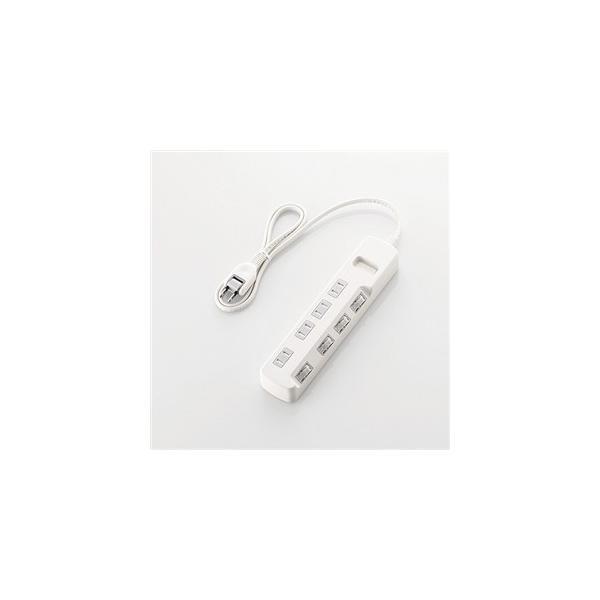 エレコム T-E6A-2420WH ほこり防止シャッター付 省エネタップ 2.0m ホワイト|yamada-denki