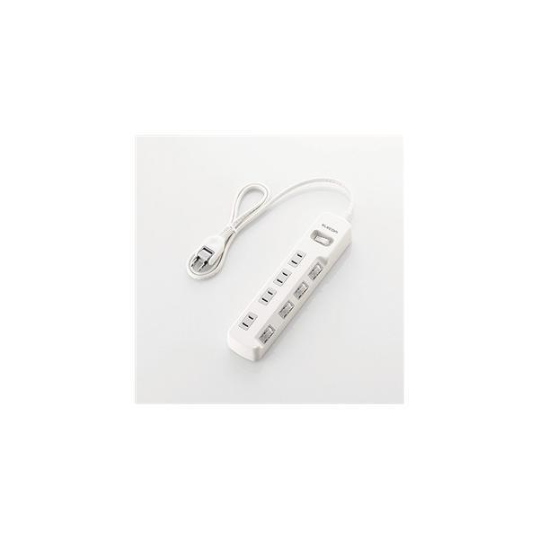 エレコム T-E7A-2420WH 一括&個別スイッチ付 省エネタップ 2.0m ホワイト|yamada-denki