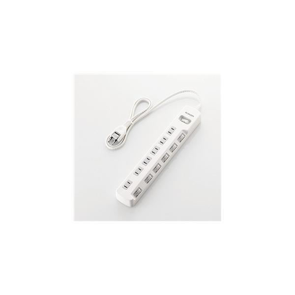 エレコム T-E7A-2630WH 一括&個別スイッチ付 省エネタップ 3.0m ホワイト|yamada-denki