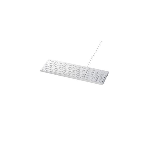 有線キーボード[USB 1.5m・Win] スタンダード BSKBU15シリーズ スタイリッシュ (108キー・ホワイト) BSKBU15WHの画像