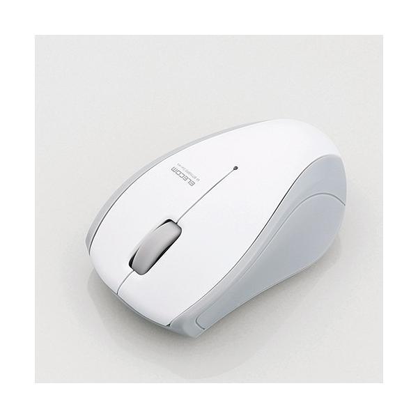 エレコム IRマウス/Bluetooth3.0/3ボタン M-BT15BRSWH ホワイトの画像