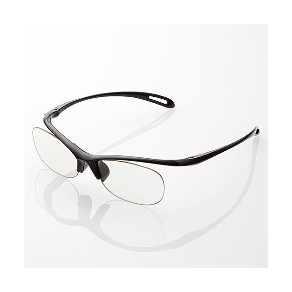 ELECOM 〔ブルーライト対策メガネ〕 エクリア 老眼鏡 ブラック(レンズ度数:+2.0) R-BC20-L01BKの画像