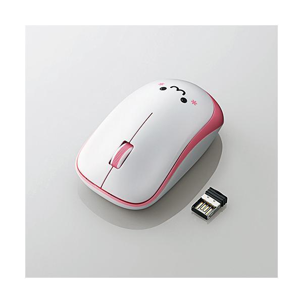 エレコム 無線/3ボタン/省電力マウス M-IR07DRPN ピンクの画像