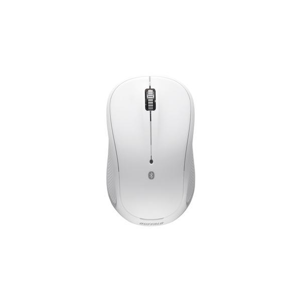バッファロー Bluetooth IR LED 3ボタンマウス BSMRB050WH ホワイトの画像