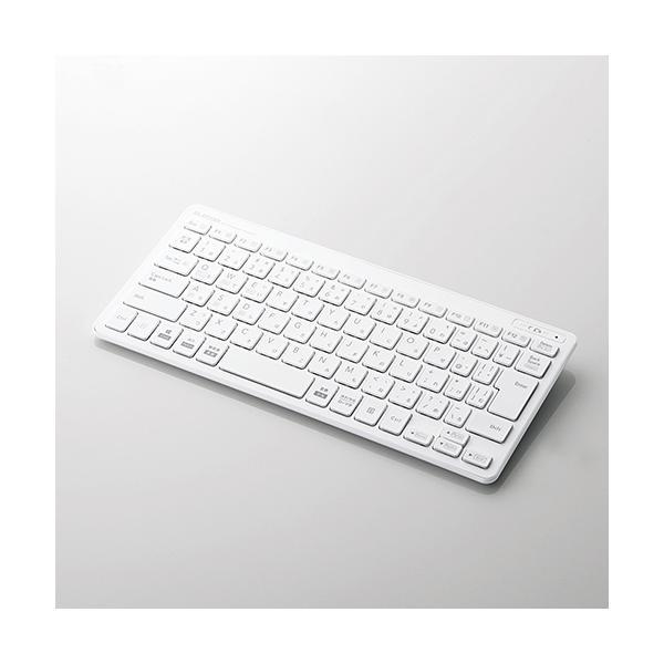Bluetooth薄型ミニキーボード(ホワイト) TK-FBP100WHの画像