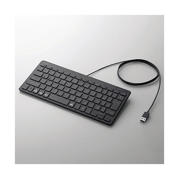 有線ミニキーボード/パンタグラフ式/ブラックの画像