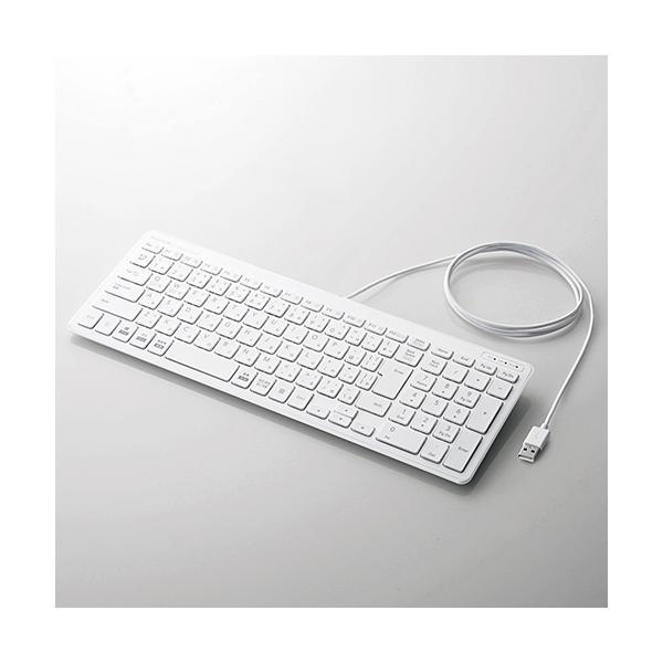 有線コンパクトキーボード/パンタグラフ式/ホワイトの画像