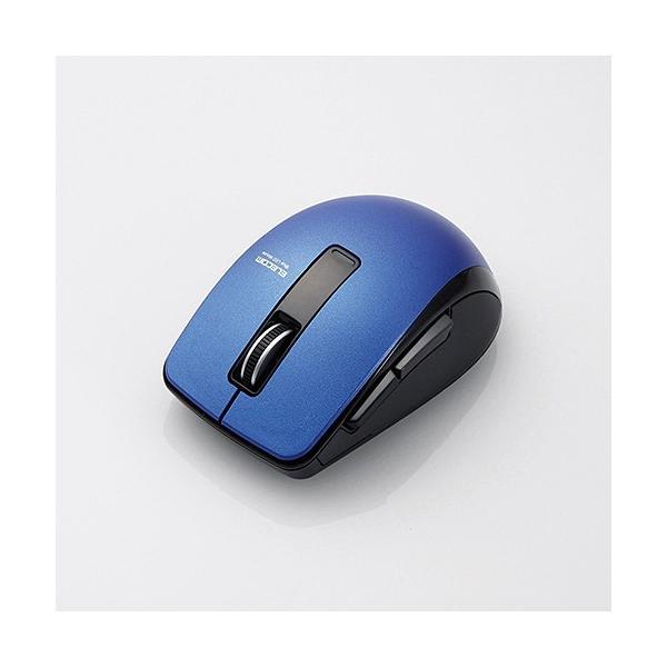 エレコム Bluetoothマウス/5ボタン M-BT20BBBU ブルーの画像