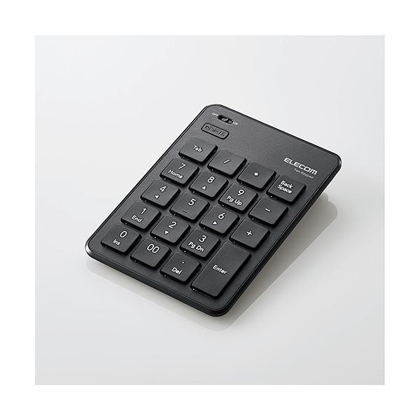 エレコム Bluetoothテンキーパッド/パンタグラフTK-TBP020BK ブラック最薄部6.5mmの薄型テンキーパッド(Bluetoothタイプ)の画像