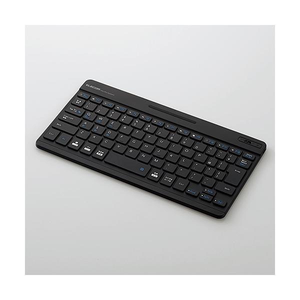 ワイヤレスキーボード 専用ケース付き[Bluetooth・Mac/Win・日本語 82キー]超薄型 TK-SLP01BK ブラック [Bluetooth /ワイヤレス]の画像