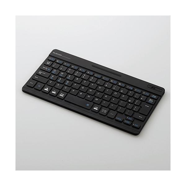 ワイヤレスキーボード 専用ケース付き[Bluetooth・Mac/Win・日本語 82キー]超薄型 TK-SLP01BU ブルーの画像