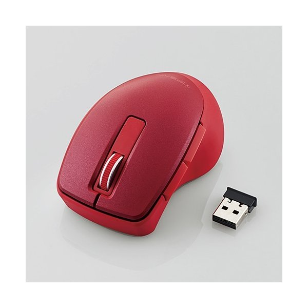 """エレコム ワイヤレス5ボタンBlueLEDマウス""""TIPS AIR"""" M-TP20DBRD レッドの画像"""