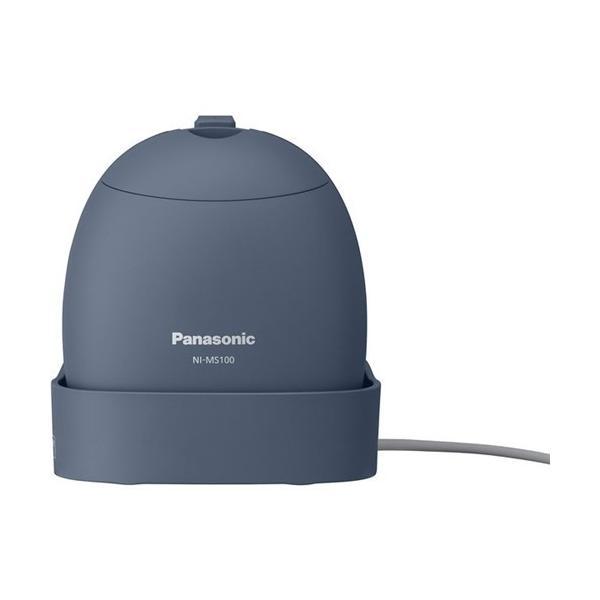 パナソニック NI-MS100-A 衣類スチーマー モバイル 国内・海外両用 グレイッシュブルー
