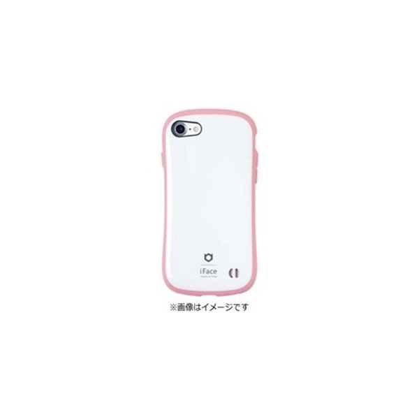 Hamee iFace First Class Pastel ケース ホワイト ピンク 〔iPhone 7用〕の画像