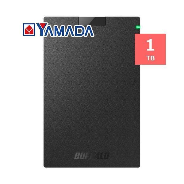 バッファロー HD-PCG1.0U3-BBA ミニステーション USB3.1(Gen1)/USB3.0 ポータブルHDD 1TB ブラック yamada-denki