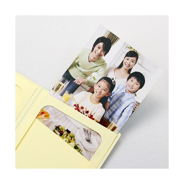 ペーパー フォトフレーム 写真台紙 父の日 ギフト Father's Day/赤いばら 2Lサイズ 2面タテ クリーム|yamadaya-daishi|02
