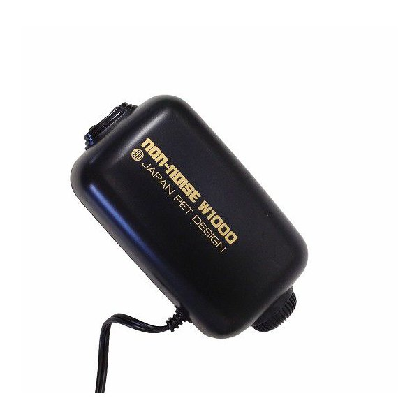 ハイパワー・低振動エアーポンプ ニチドウ『ノンノイズW1000』(120〜180cm水槽用)