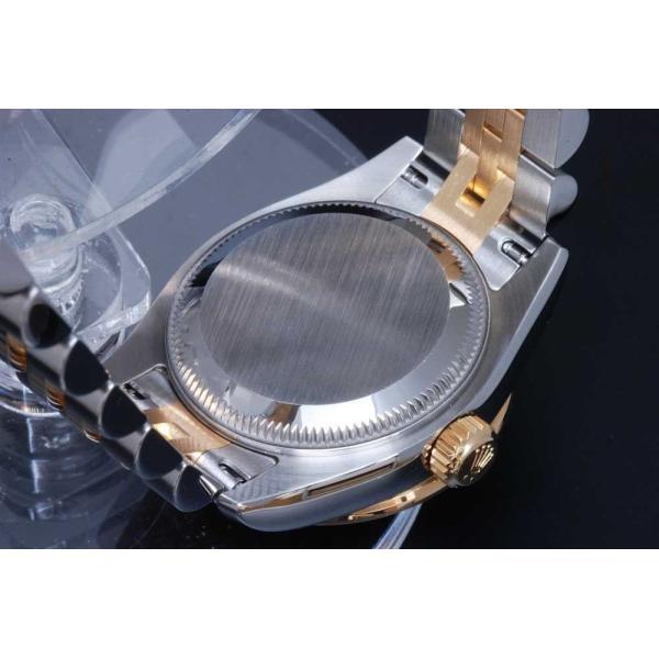 ロレックス オイスターパーペチュアル デイトジャスト 179383G ダイヤベゼル 10Pダイヤ白文字盤 オートマ レディース G番【美品】