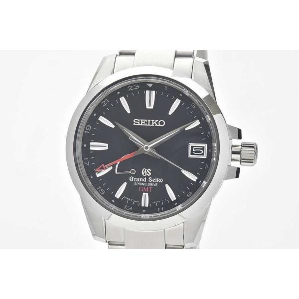 セイコー SBGE013 グランドセイコー スプリングドライブ GMT パワーリザーブ メンズ SS オートマ 9R66 黒文字盤【正規品】
