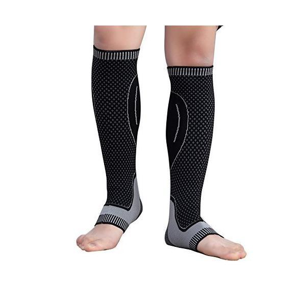 着圧オーバーニーソックスニーハイスッキリ加圧ソックス就寝時用スリム美脚靴下ワンサイズで