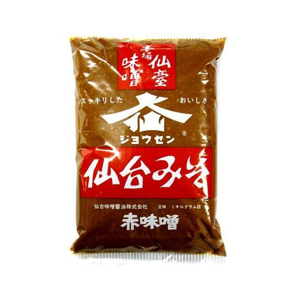 仙台味噌 ジョウセン本場 仙台みそ 赤味噌 1kg