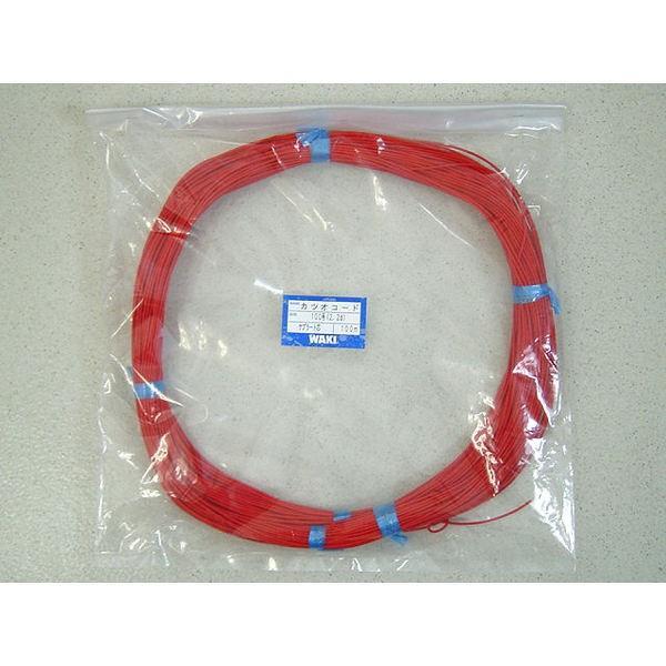 カツオコード(赤) 100号 100m ケプラー芯 脇漁具